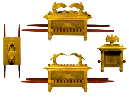 Set of 4 Arks of the Covenant from the Bible.