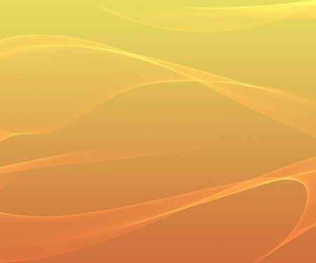 Orange smooth abstract background with shining light