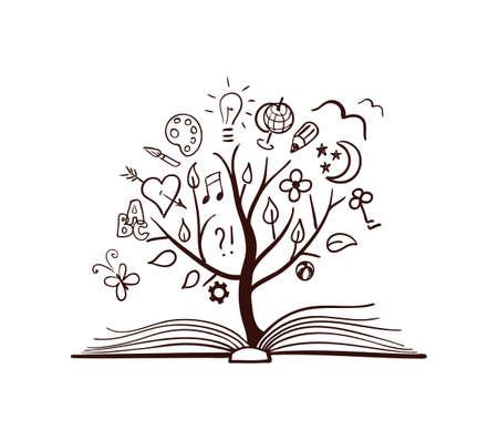Illustration pour Vector tree of knowledge - image libre de droit
