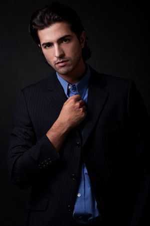 portrait of young business man wearing blazers