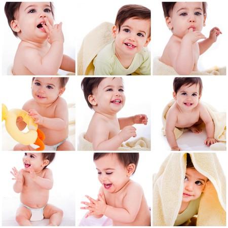 Foto de Playfull Baby boy portrait - Imagen libre de derechos