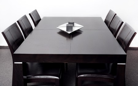 New stylish modern dining table with six chair set
