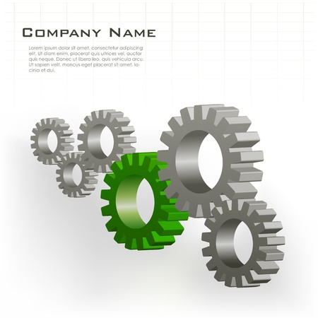 illustration of cog wheels showing team work