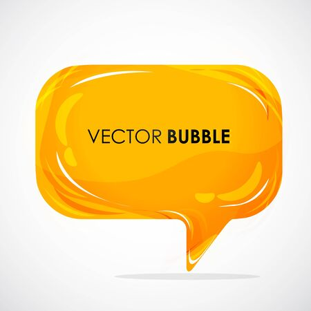 Illustration for illustration of glossy speech bubble - Royalty Free Image