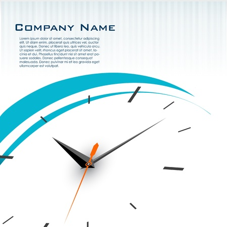illustration of business card with watch