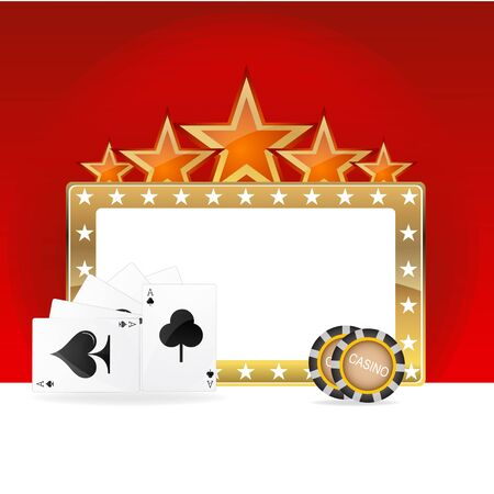 illustration of casino icons