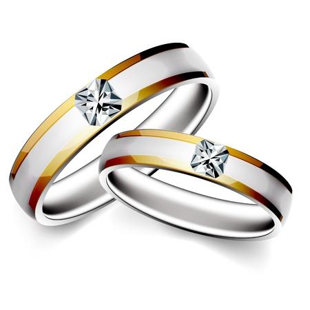 illustration of wedding ring on white background
