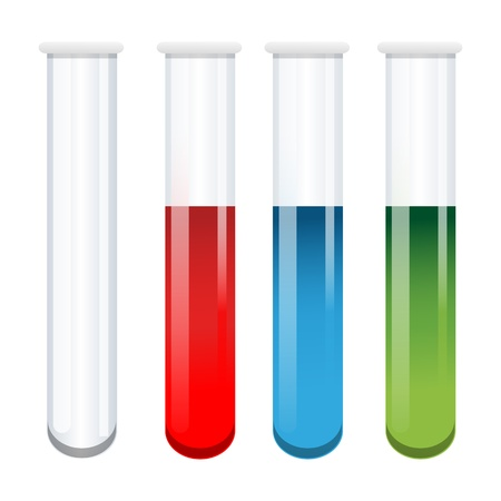 illustration of test tubes on white background