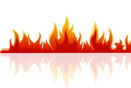 illustration of fire on white background