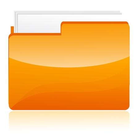 illustration of folder on white background