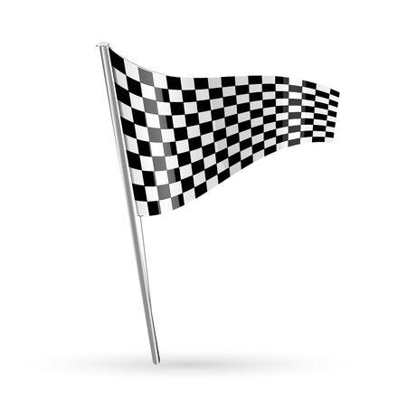Illustration pour illustration of racing flag on white background - image libre de droit