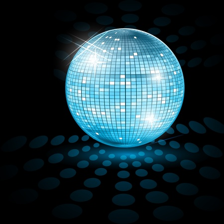 Illustration for illustration of disco ball on abstract background - Royalty Free Image