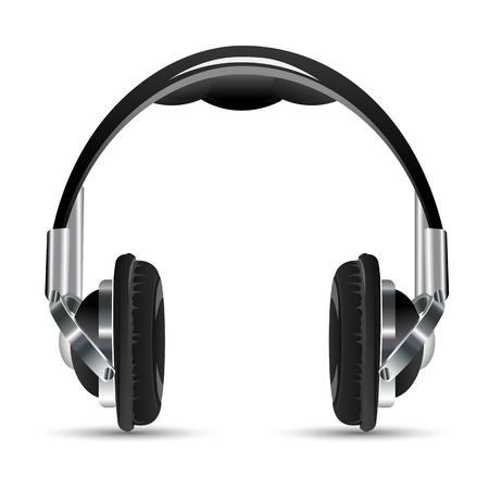 illustration of headphone on white background