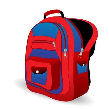 illustration of school bag on white background