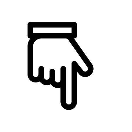Illustration pour backhand index pointing down - image libre de droit
