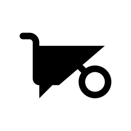 Illustration for wheelbarrow - Royalty Free Image