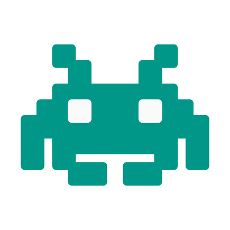 Illustration pour Space Invaders Character - image libre de droit