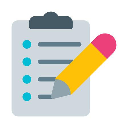 Illustration pour Clipboard Pencil Checklist - image libre de droit
