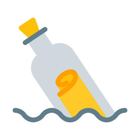 Illustration pour Message in Bottled - image libre de droit