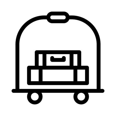 Illustration pour Hotel Bellhop Service - image libre de droit