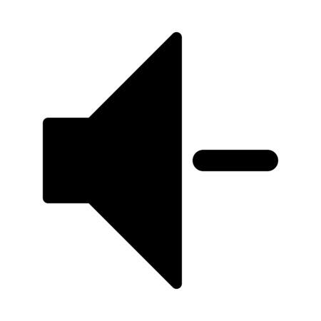 Illustration for Decrease Volume Adjustment - Royalty Free Image