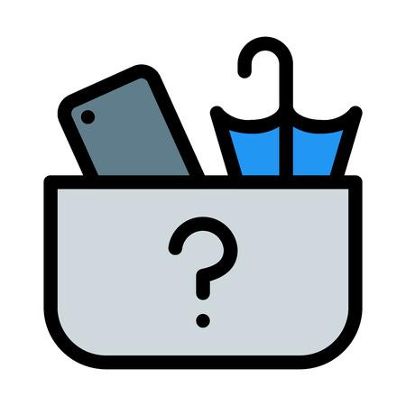 Illustration pour Left Items Box - image libre de droit