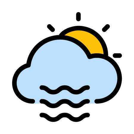 Illustration pour Daytime foggy weather - image libre de droit