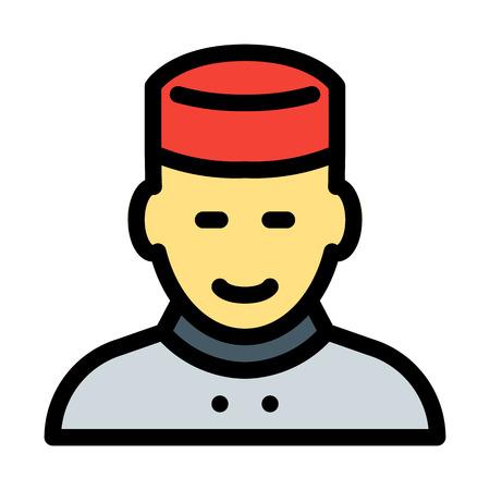 Illustration pour Bellboy - Hotel Waiter - image libre de droit