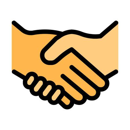Illustration pour Handshake Greeting Gesture - image libre de droit