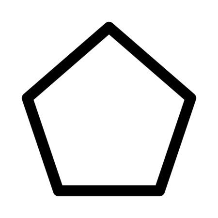 Illustration pour pentagon shaped polygon - image libre de droit