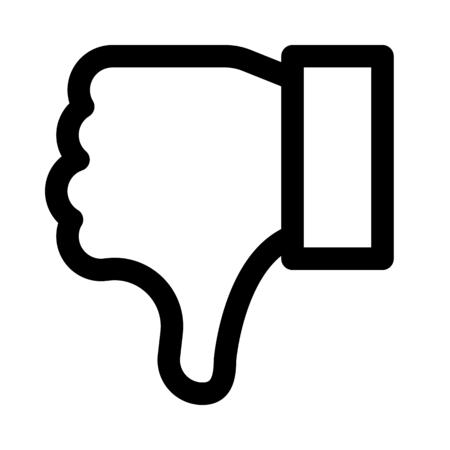 Illustration pour Thumb down gesture - image libre de droit