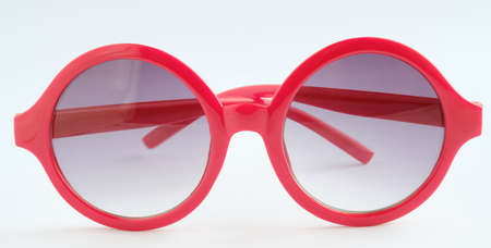 Photo for Red glasses on white background ,Close up object - Royalty Free Image