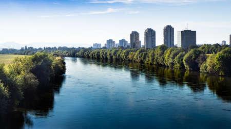 Urban River Save in Zagreb, Croatia