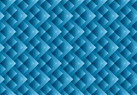 abstract fish scales vector seamless pattern for surface design. geometric blue square shape repeatable motif for background