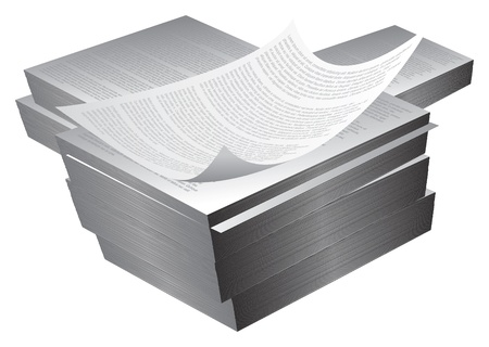 large blocks/reams of printed paper