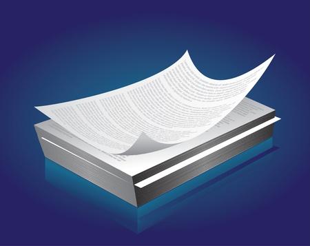 Printed paper in bulk