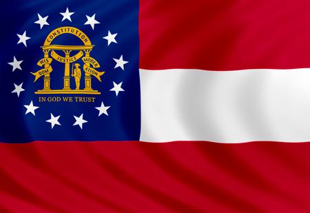 Georgia flag of silk