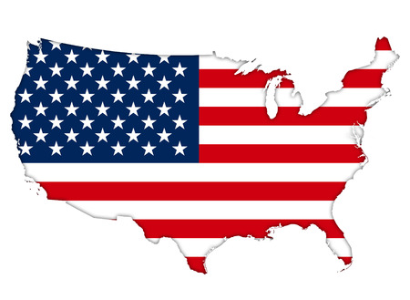 Photo pour American flag map - image libre de droit