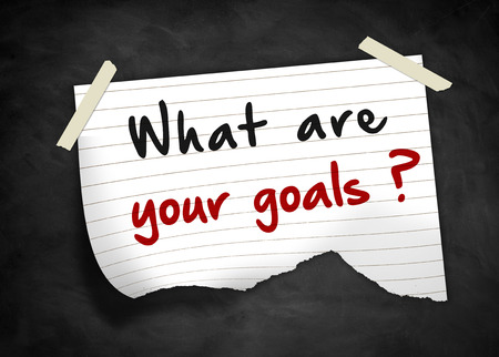 what are your goals - note message