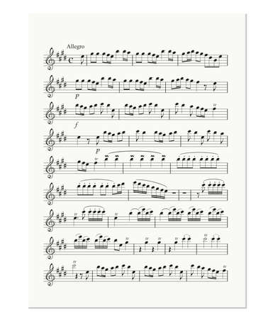 old music note sheet