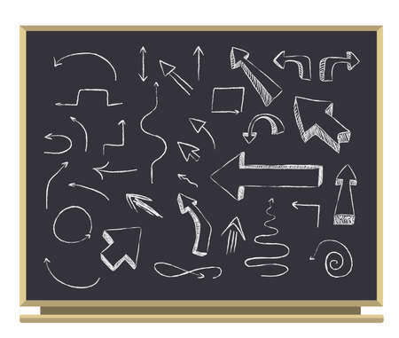 Illustration pour arrows on blackboard  - image libre de droit