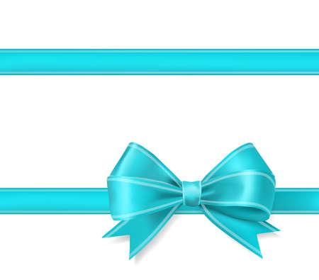 Illustration pour aqua blue ribbon bow background. decorative design elements vector illustration - image libre de droit