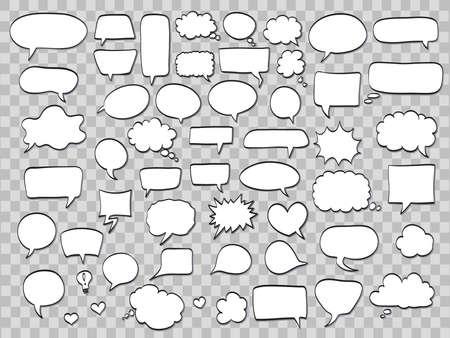 Illustration pour Set of comic speech bubbles - image libre de droit