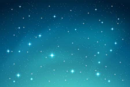 Illustration pour A Blue Night Sky with Stars Horizontal Background. Vector - image libre de droit