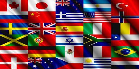 Foto de Countries Flag silk - Imagen libre de derechos