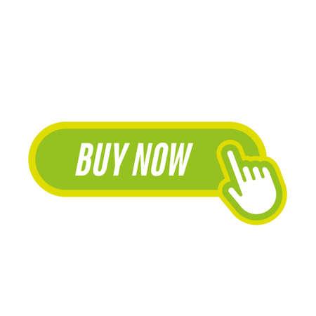 Illustration pour buy now icon with hand - image libre de droit