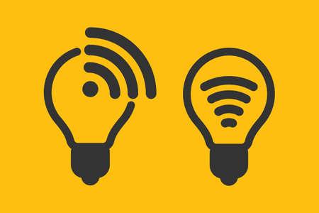 Li-fi icon, wireless internet connection, vector icon.