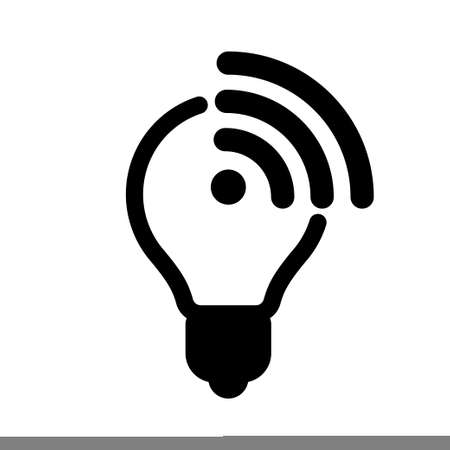 Li Fi technology, lightbulb and connection vector icon