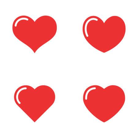 Photo pour Heart icon collection, love symbols - image libre de droit