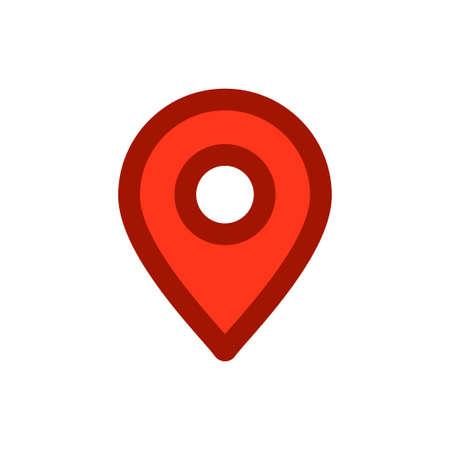 Illustration pour Location map icon, gps pointer mark - image libre de droit